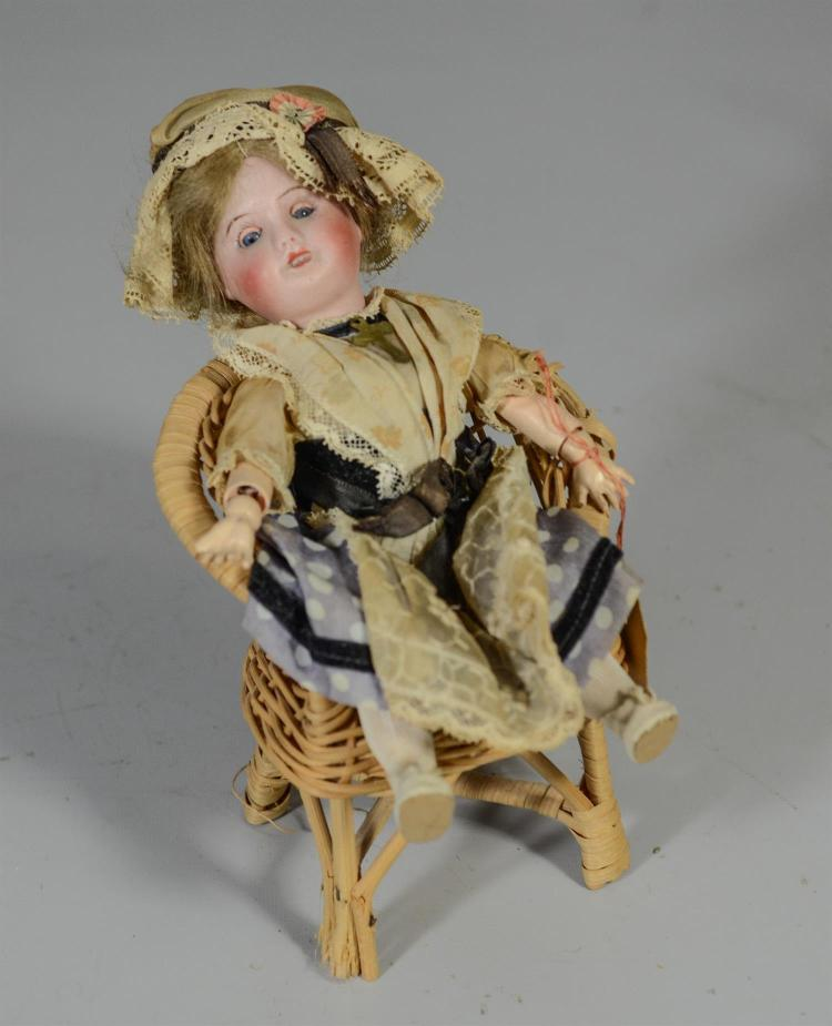 SFBJ (Societe Francaise de Fabrication de Bebes et Jouets) French bisque head doll, jointed composition body, sleep eyes, open mouth...