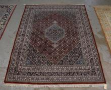 Hand made Indian oriental style rug, 9'' x 12''1