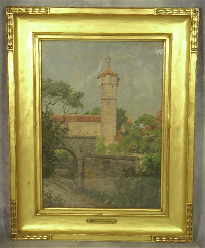 Martin B Leisser American PA 1845-1940 oil on