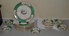 29 pieces of Myott Staffordshire dinnerware with bird of paradise decoration, consisting of (12) 10/13