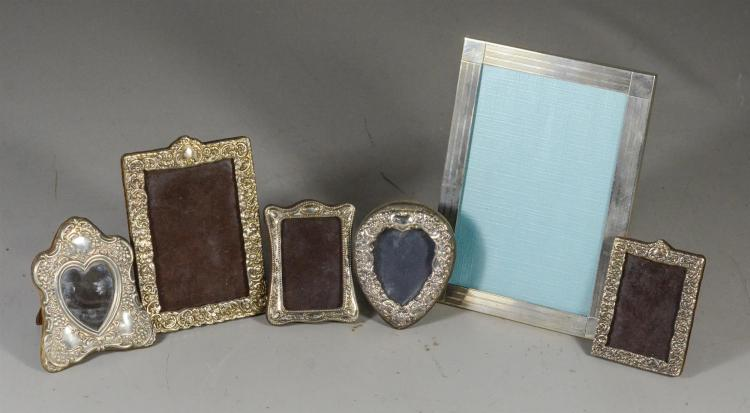 6 Sterling Silver Picture Frames 5 Antique English Miniat