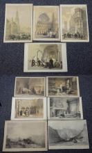 (10) Louis Haghe (Belgian, 1806-1885), lithograph, Scenes of Belgium, largest 14-1/2