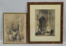 (2) Louis Haghe (Belgian, 1806-1885), lithograph,