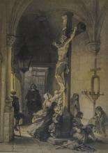 (3) Louis Haghe (Belgian, 1806-1885), lithograph, Scenes of Belgium: