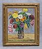 Joseph Fraczkowski, American, DE, student of Frank Schoonover, o/c, floral still life, 20