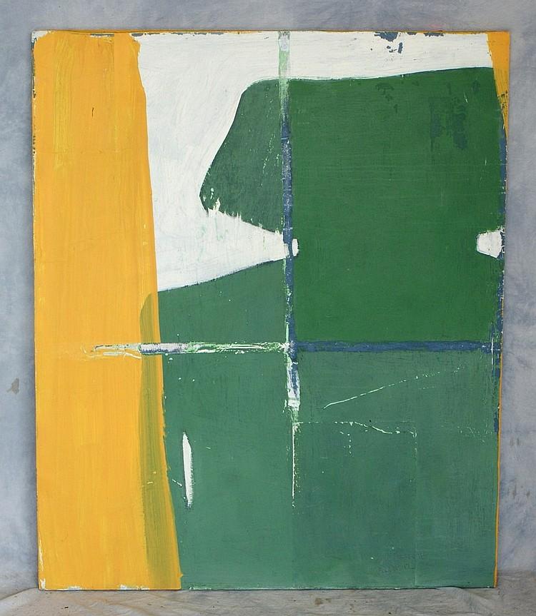 Tom Bostelle, American, PA, 1921-2005, acrylic on board,