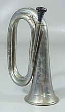 British military bugle with presentation engraving