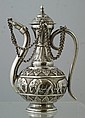 Indian Silver Oil Pot with Elephant border, 9.45 Troy Oz, 6