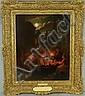 Johann Mongels Culverhouse, Holland/American/NY, 1820/25 - 1891/95, Night Market, 1877, o/c, 20