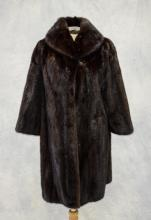 Fur 3/4 length jacket from Zinman Furs, size small, not available for shipping outside US