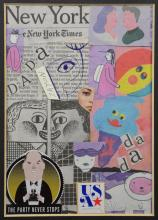 Seymour Zayon (American, PA, b 1930), The Party Never Stops, abstract mixed media, signed center left, 6-3/4