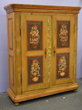 Alsatian painted armoire, 19th c, 79