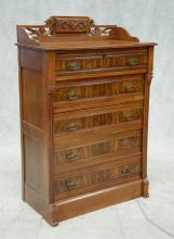 Victorian Side lock chest of drawers, 5 drawers, 56-1/2