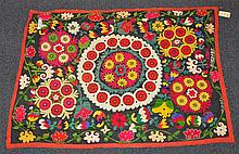 (6) Suzanis, 19th/20th Century, Central Asia, largest one measures: 6'3