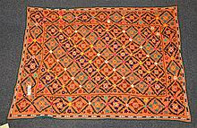 (6) Suzanis, 19th/20th Century, Central Asia, largest one measures: 6'4