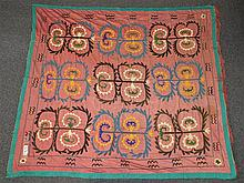 (6) Suzanis, 19th/20th Century, Central Asia, largest one measures:7'1