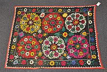 (6) Suzanis, 19th/20th Century, Central Asia, largest one measures:6'2