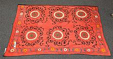 (6) Suzanis, 19th/20th Century, Central Asia, largest one measures:11'8