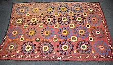 (6) Suzanis, 19th/20th Century, Central Asia, largest one measures:11'7