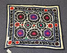 (6) Suzanis, 19th/20th Century, Central Asia, largest one measures:7'3