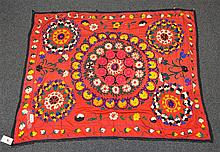 (6) Suzanis, 19th/20th Century, Central Asia, largest one measures: 7' x 6'6