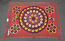 (6) Suzanis, 19th/20th Century, Central Asia, largest one measures:7' x 5'6