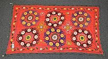 (6) Suzanis, 19th/20th Century, Central Asia, largest one measures: 9'1