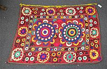 (6) Suzanis, 19th/20th Century, Central Asia, largest one measures: 6'10