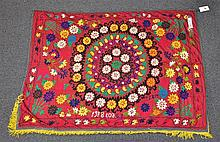 (6) Suzanis, 19th/20th Century, Central Asia, largest one measures:9'3