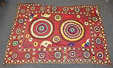 (6) Suzanis, 19th/20th Century, Central Asia, largest one measures:15'10