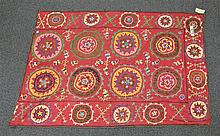 (6) Suzanis, 19th/20th Century, Central Asia, largest one measures:6'5