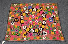 (6) Suzanis, 19th/20th Century, Central Asia, largest one measures:6' x 4'10