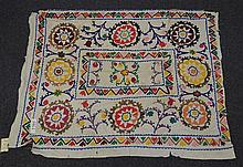 (6) Suzanis, 19th/20th Century, Central Asia, largest one measures:7' x 7'3