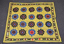 (6) Suzanis, 19th/20th Century, Central Asia, largest one measures:6'10