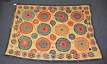 (4) Suzanis, 19th/20th Century, Central Asia, largest one measures:8'9