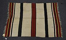 (8) Flat Weave blankets with Stripes, 20th Century, Morocco, one measures 6' x 3'10