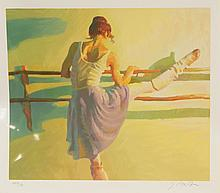 """John Asaro, American, 1937- , serigraph, Warming Up, signed and numbered PP 8/40, 22-1/4"""" x 26"""""""
