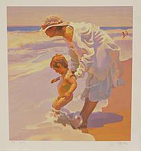 "John Asaro, American, 1937- , serigraph, Summer Holiday, signed and numbered PP 11/40, 26-1/4"" x 23-3/4"""