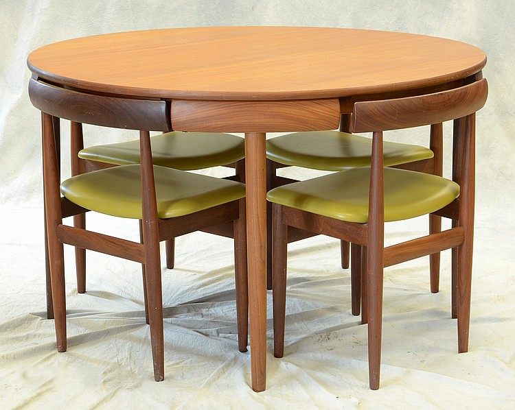 pact dining room table marked Rem Rojle made in Denmark