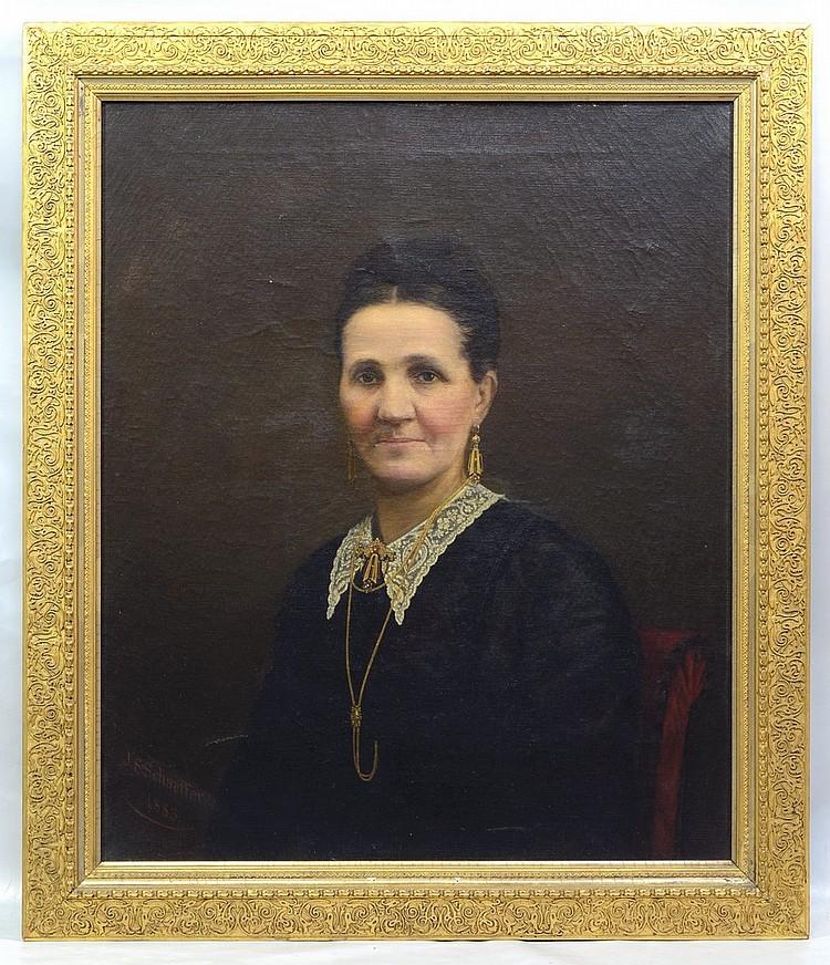 john simon schaeffer american 1859 1901 oil on canvas p. Black Bedroom Furniture Sets. Home Design Ideas