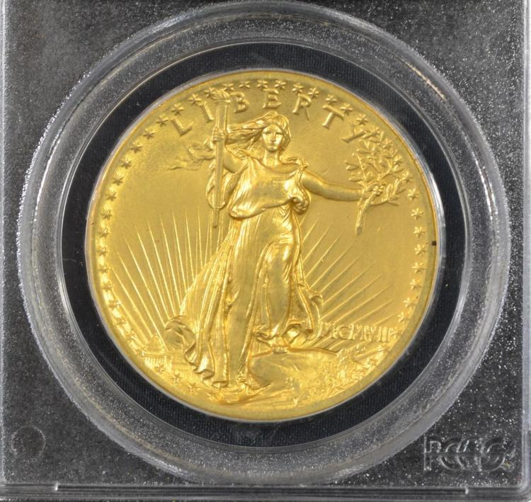 1907 st gaudens 20 gold coin ms63 high relief flat edge. Black Bedroom Furniture Sets. Home Design Ideas