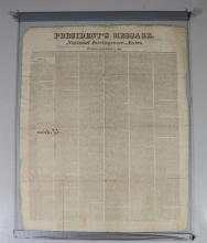 John Quincy Adams, Signed Document, Presidents Message, National Intellinger…Extra, Tuesday, December 6, 1825; signed