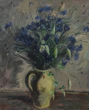 """Maurice Georges Poncelet (French, 1897-1978), still life with field flowers, painting, signed """"M G Poncelet"""" lower right, oil on can..."""
