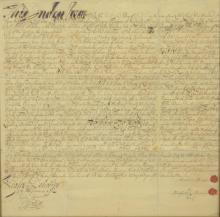 1745 Indenture between Abraham Harring Of Tappan in the County of Orange in the Colony of New York....and Elbert Harring ....in cons...