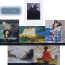 5) Wondrous Strange Exhibition Posters, Howard Pyle, NC Wyeth, Andrew Wyeth, Jamie Wyeth show that ran at the Farnsworth and Delaw...
