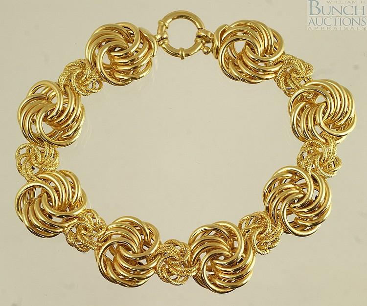 14K YG bracelet, Milor, Italy, 7 1/2