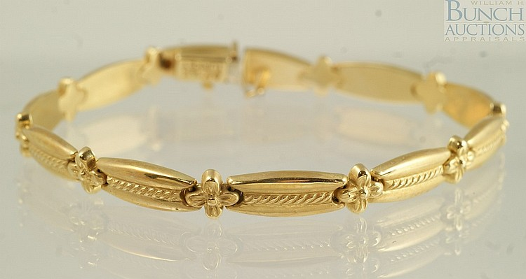 14K YG bracelet, AK, Turkey, 7 1/4
