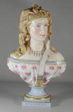 Paris porcelain bust of