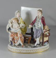 Royal Vienna-type porcelain allegorical group of