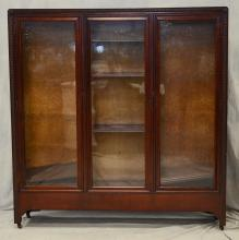 Mahogany 3 door bookcase, c 1900, 62